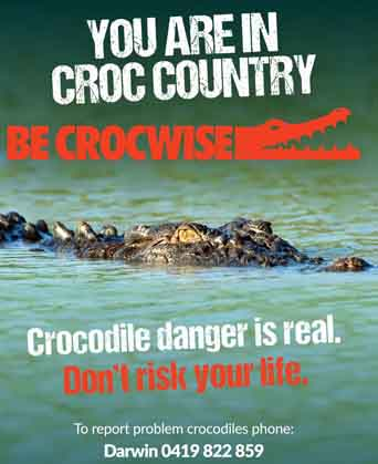 In croc country ad